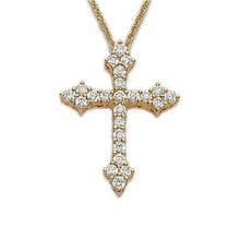 Hot sale dubai religion jewelry , 14k gold plating religion cross necklace ,belief message necklace for religion jewelry making