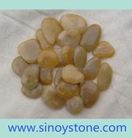 decoration polished yellow stone pebbles