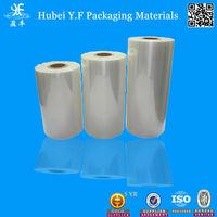 Semi-Tube PVC Shrink Tube Wrap Film Tubular Sleeves For Plastic Drinking Bottle Package