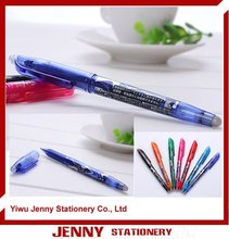 Erasable ball pen and pilot function pen