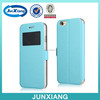 New design cellphone stand case with window pu leather case for iphone 6