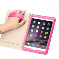 Magnetic Slim Leather Smart Stand Cover Case for iPad mini 4 with hand hold