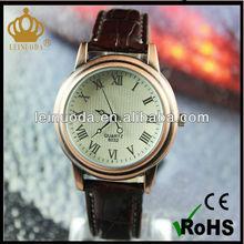 cow geniune leather strap ladies' vintage watch,precise quartz movement, promotion sales
