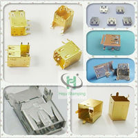 Customized metal micro usb male pcb connector terminal