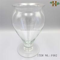 bulk wholesale footed glass vases for flower arrangements