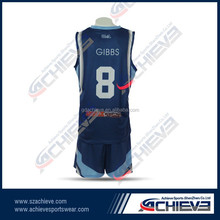 womens/mens basketball uniform sets design used short sleeve basketball jersey
