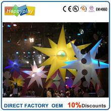 event floating LED inflatable lighting advertising screw Column with LED lights