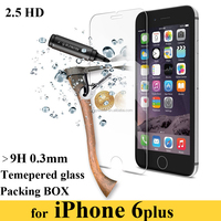 0.3 mm 9H Hardness 2.5D Anti Blue Ray Premium Tempered Glass Screen Protector for iPhone 6 Plus 5.5""