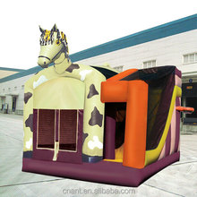 durable cartoon decoration inflatable combo with slides