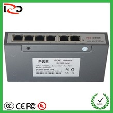 10years factory sell 10/100Mbps 48v 6Ports with high quality