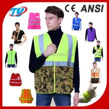 16 flash red led lighted mesh safety vest