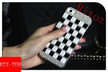 2015 Newest Bling Crystal With Diamod Hard Back Cover Case For Iphone6 4.7/5.5/4S/5 Instock Wholesale