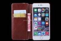 Elegant Mobile Phone Flip Leather Case Handmade Wallet Case For 6plus 6S plus Case Mix color