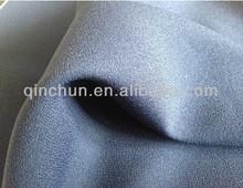 100 poliéster moss crepe tela para vestidos de mujeres