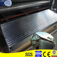 Curved color zinc coated metal corrugated roof plate