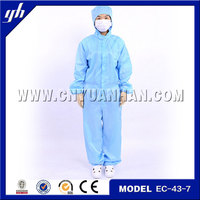 China garment manufacturer cleanroom safety coverall/garment stock lot