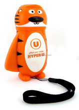 Decorative and promotional tiger animal shape LED flashlight