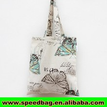 The butterfly print hand make tote bag for student jute tote bag