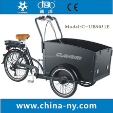 three wheel electric cargo tricycle for mother and baby