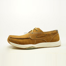 brown deck boat shoe style china guangzhou wholesale market of leather casual shoes