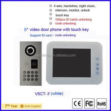 2015 new waterproof /vandalproof video door phone intercom support ID card code unlocking