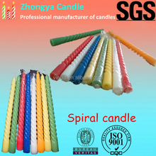 25g colored spiral candle, candle in bulke exported to Kingdom of Saudi Arabia,Mid East