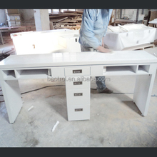marble stone material Nail Table manicure table used nail salon furniture nail technician table