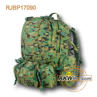Outdoor Military Rucksacks Tactical Molle Backpack Bag Army Woodland Digital