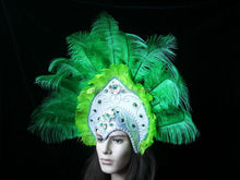 fashionable headdress with Ostrich feather /beautiful decoration