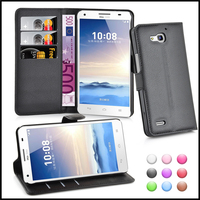 Wallet Leather Case Cover for Huawei G750