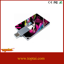 OEM brand credit card usb pendrive with color printing