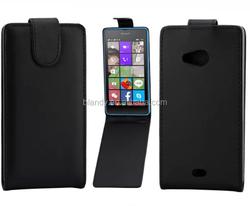 New Plain over Flip PU Leather Case Cover For Nokia Microsoft Lumia 540 Lumia 540