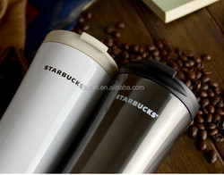 NEW HOT Double Wall Stainless Steel Insulated Thermos Coffee Cup food grade, bpa free 16oz stainless steel plastic thermos cup
