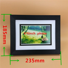 custom aluminum photo frame black with factory price