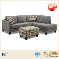 Divan living room furniture modern fabric small size corner sofa
