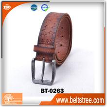New design italian genuine leather star belt made in guangzhou