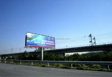 Doble cara de publicidad China cartelera estructura de acero