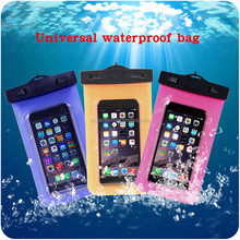 OEM Universal waterproof bags for mobile phones, 5.5 inch swimming diving waterproof bag for mobile phone