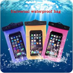 OEM Universal waterproof bags for mobile phones, 5.5 inch swimming diving waterproof bag for mobile phone