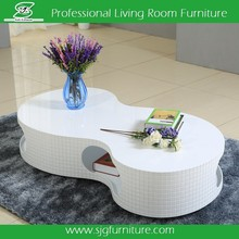 White S Shape MDF Coffee Table