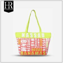 Bright-coloured Fashion Cleaning Canvas Bag with zipper and inner pocket