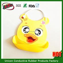 Waterproof Washable Customized FDA Eco-Friendly Soft Silicone Baby Bib