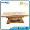 wood ceragem jade massage bed
