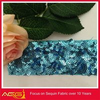 wholesale wedding party mesh paillette American Fabric checkered spandex fabric