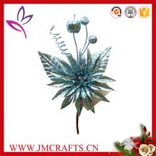 Christmas decorative artificial glitter pick flower