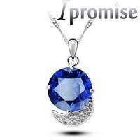 2015Brand design United States new Austrian luxury zircon crystal moon round 7 color crystal pendant jewelry fashion women 5012