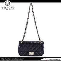 Wishche 2016 Fashion European Style Handmade Leather Bag Handbag Messenger Cross Body Bag for Women Shoulder Handbag China W1024