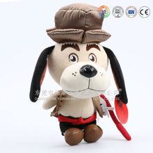 Custom Cartoon Soft Stuffed German black Dog Puppy