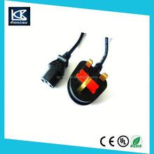 fuse power cord switch on e27 bulb holder 220v power cable cord
