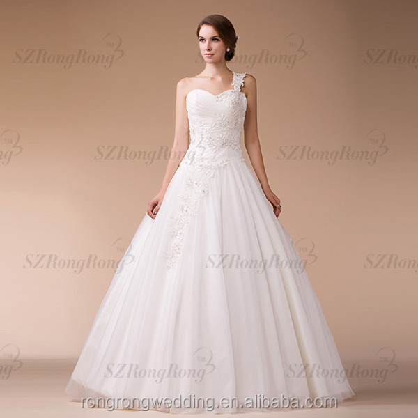 Wholesale hm9687 heavy beaded ball gown one shoulder china for Heavy beaded wedding dresses
